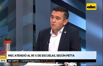 MEC atendió al 95% de las escuelas, según Petta