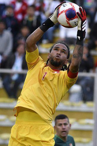 Pedro  Gallese, 31 años, el buen portero de Perú que tendrá ardua tarea contra Argentina.