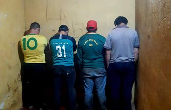 Los detenidos por el caso de abigeo se encuentran recluidos en sede policial.