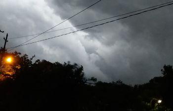 Tormentas formándose en San Juan Bautista, Misiones.