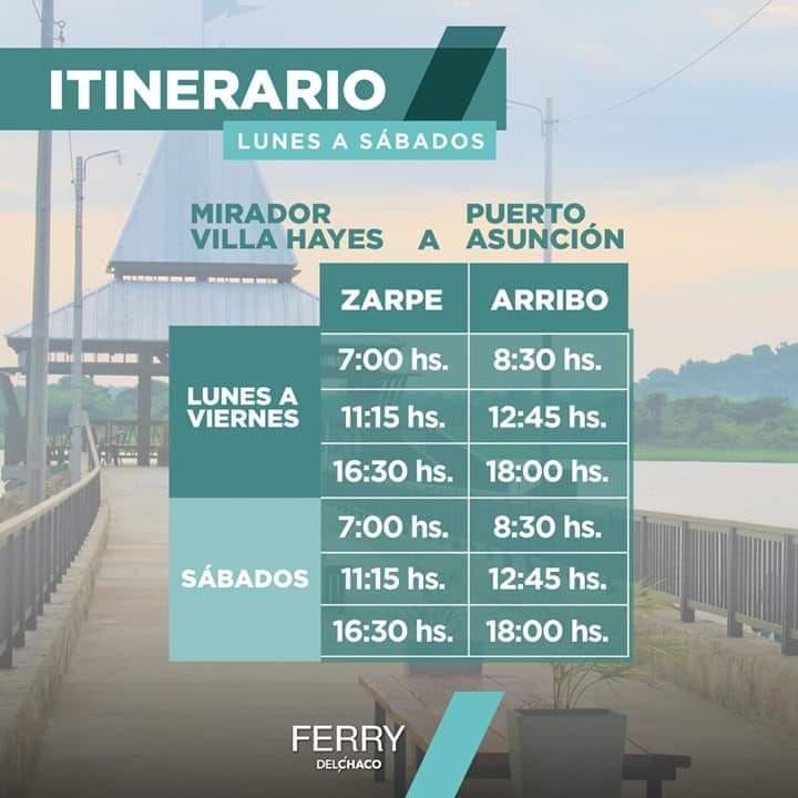 Estos son los horarios del ferry que aún puede aprovechar esta semana.