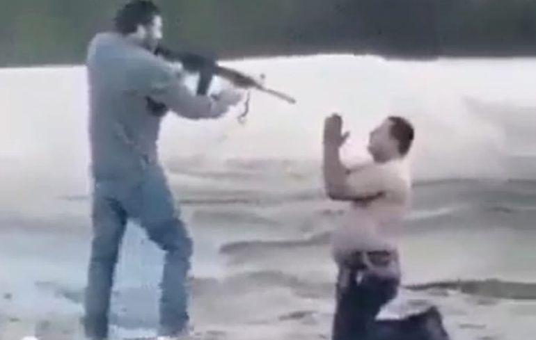 Papo Morales dijo que este ataque con fusil fue parte de la filmación de una película.