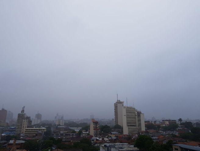 Vista del cielo de Asunción en una foto ilustrativa.