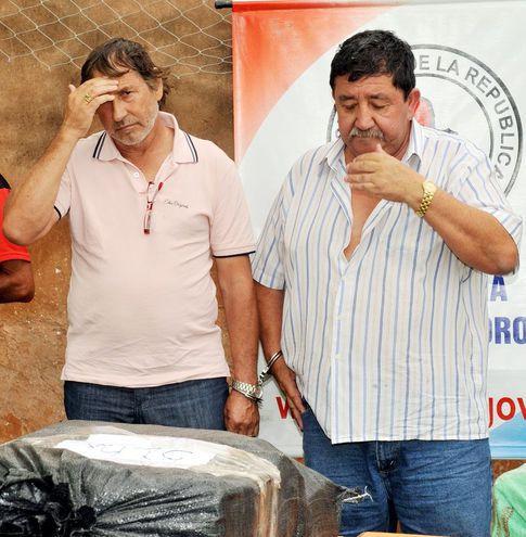 """La estancia """"Brillante"""", propiedad del jefe narco Marcelino Colmán (derecha), pasara a manos del Estado."""