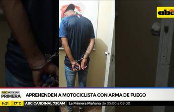 Aprehenden a motociclista con arma de fuego