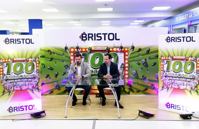 Diego Chamorro, gerente de Marketing, e Ignacio Soto Payva, gerente comercial, dieron los detalles de la nueva campaña de Bristol.