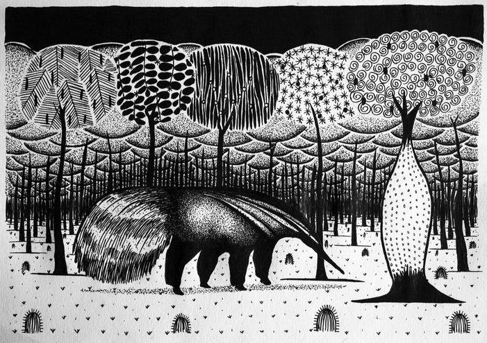 """Imagen de una de las obras de Clemente Juliuz que formará parte de la muestra """"Dibujo para no olvidar"""" en la Fundación Texo."""