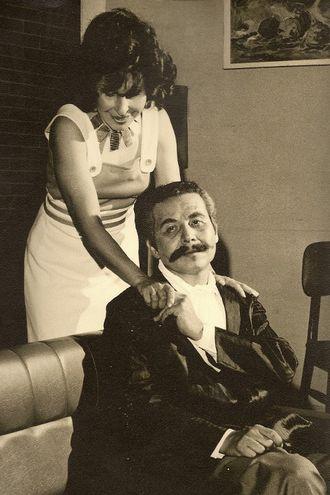 Roque Sánchez junto a su esposa, la actriz Graciela Pastor.