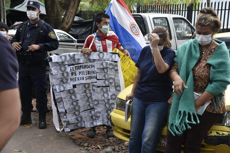 Protestas frente al Ineram.
