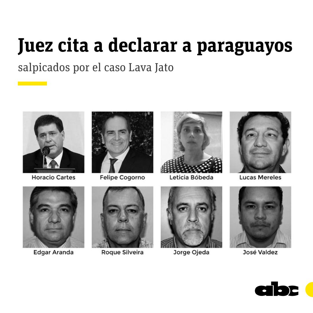 La justicia del Brasil llamó a declarar a Horacio Cartes y a siete paraguayos más.