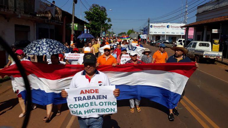 Marcha multitudinaria contra la Ande en San José.