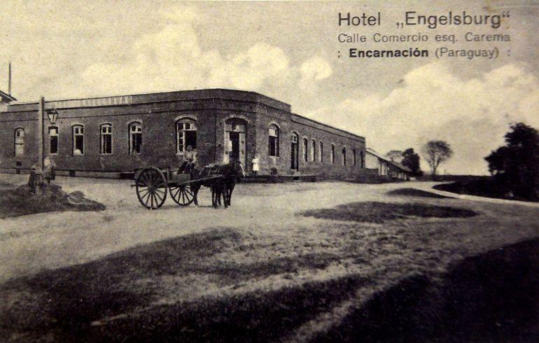 Al ser un lugar de muchas visitas existían varios  hoteles (ca. 1910).