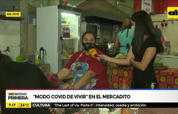 """""""Modo COVID de vivir"""" en el Mercadito"""