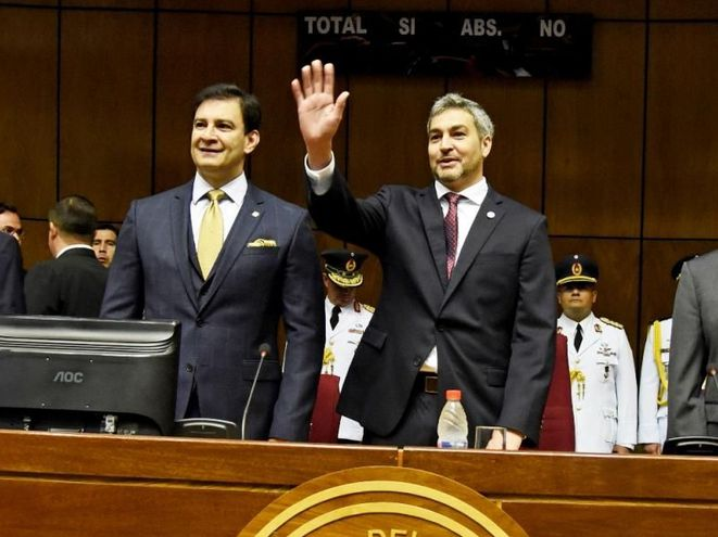 Silvio Ovelar y Mario Abdo Benítez