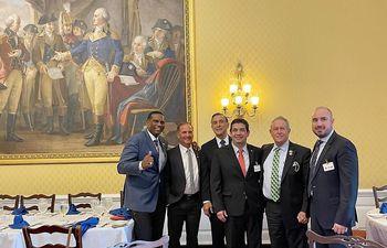 Hugo Velázquez se reunió hoy con congresistas de EE.UU.  en el Capitolio en Washington D.C.