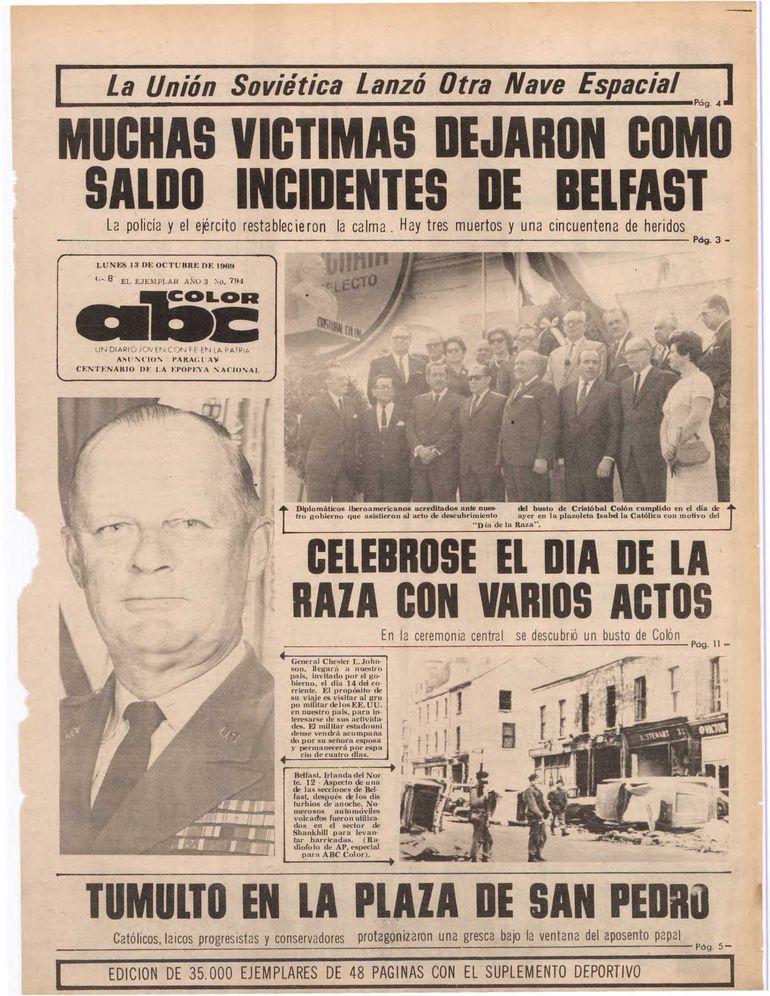 13 de octubre de 1969