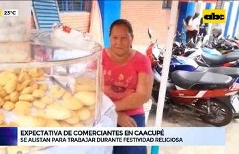 Comerciantes de Caacupé se alistan para trabajar durante la festividad religiosa