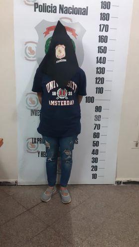 Liz Natalia Espínola, la joven detenida.