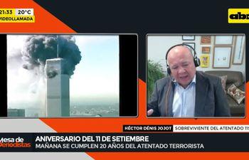 Héctor Denis Jojot rememoró el día en que puso salvarse antes del desmoronamiento de las Torres Gemelas.