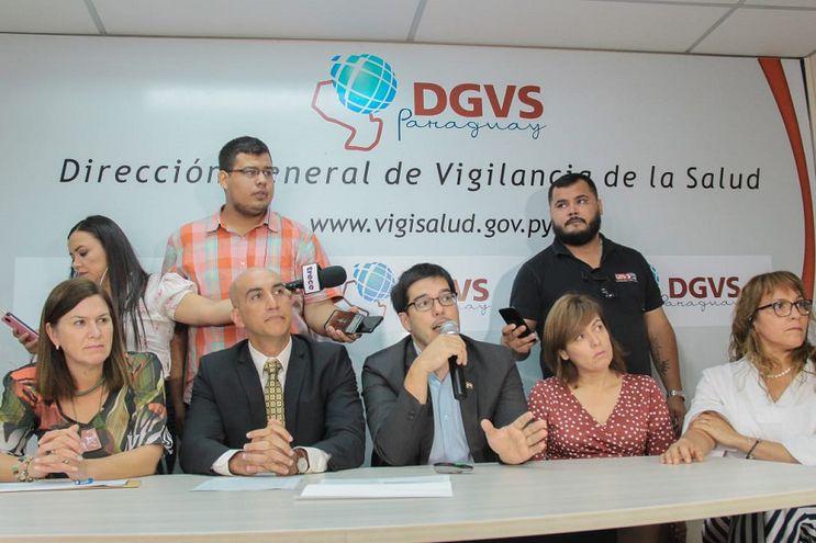 Conferencia de prensa del Ministerio de Salud.
