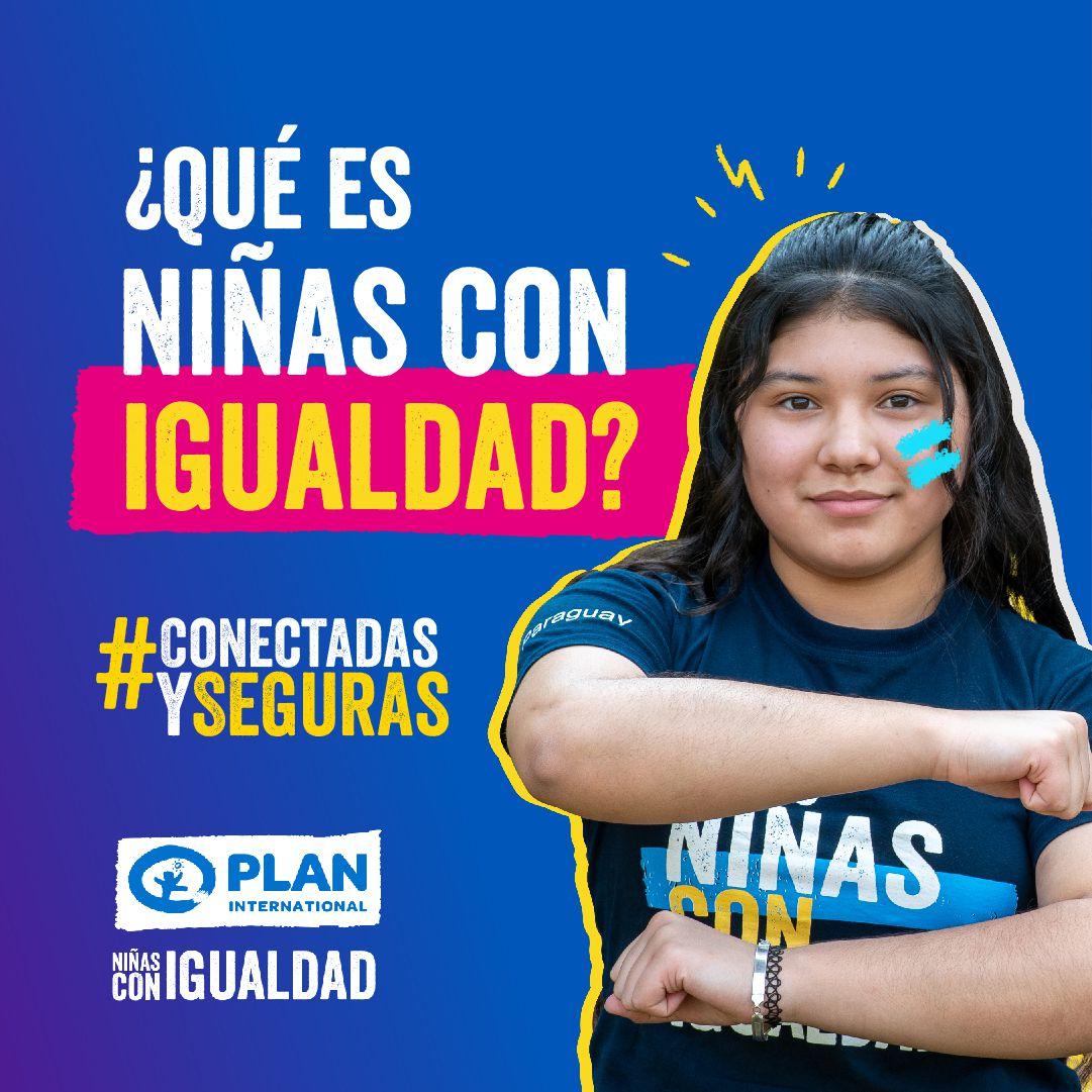 Afiche de la campaña por el Día Internacional de las Niñas, para visualizar derechos y oportunidades.