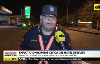 Explotaron bombas cerca del hotel de River
