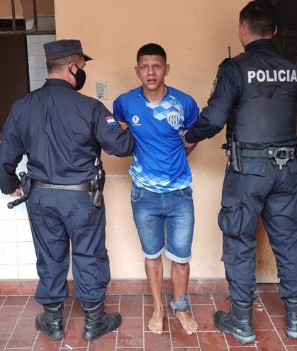 Amado Enrique Melgarejo Duré, alias Tyson, detenido.