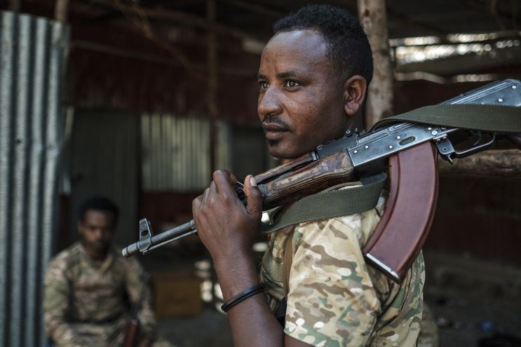Soldados de las Fuerzas Armadas de Etiopía en una imagen de archivo.