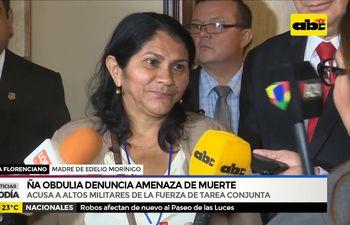 Ña Obdulia denuncia amenaza de muerte