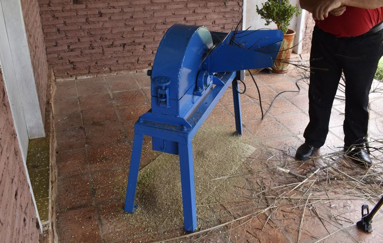 Este equipo fue construido en la Escuela de Agromecánica de Caacupé.