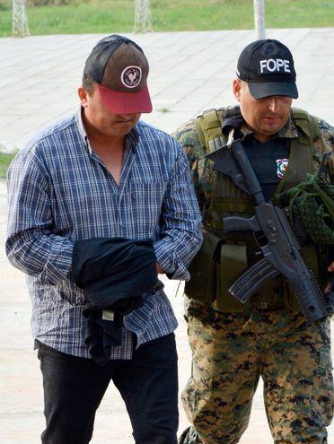 Sebastián Silva, cuando fue detenido en Concepción. En realidad sería inocente.
