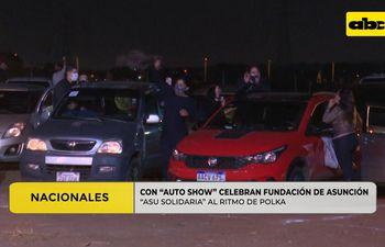 Con auto show celebran la fundación de Asunción