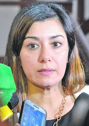 Zully Figueredo, fiscala.