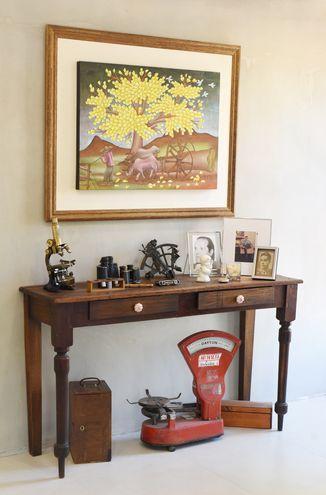 Rincón vintage propuesto por la arquitecta Chantal Báez.