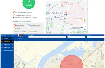 Topa y Caminos Py son algunas de las aplicaciones que brinda información acerca del trayecto y el itinerario de los buses.