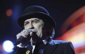 Joaquín Sabina, en un concierto en Paraguay, en el año 2012.