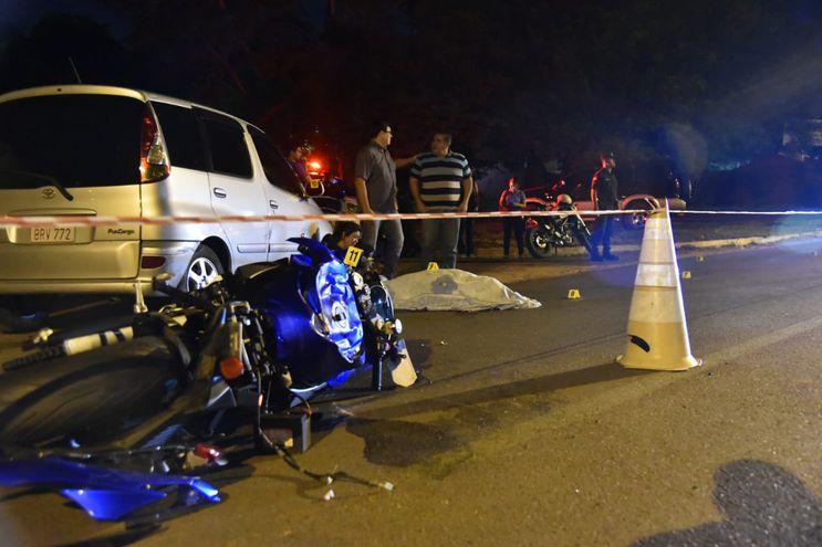 Sitio del accidente de tránsito.