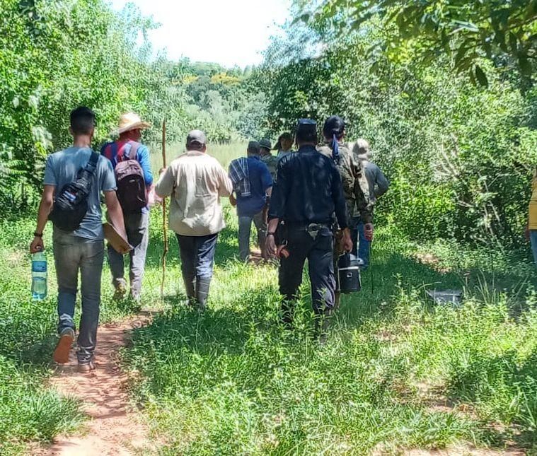 Vecinos del Asentamiento Liz y Francisco acompañaron la búsqueda de don Juan Martín Brito Ynsfrán