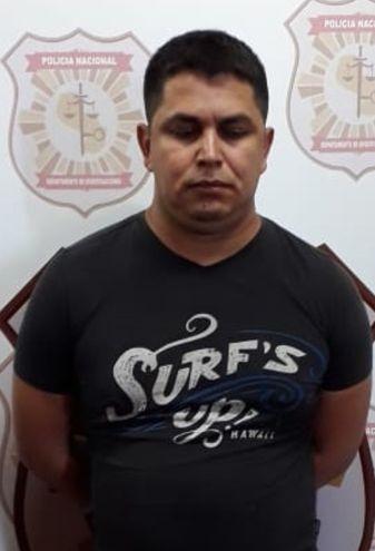 Éver Ramón Gayoso, supuesto criminal apresado.