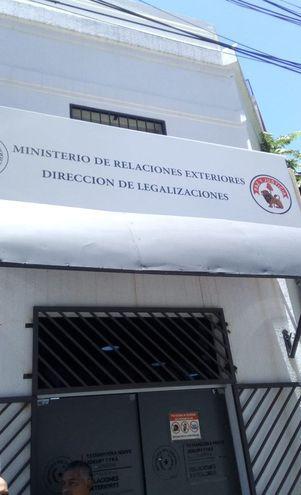Dirección de Legalizaciones del Ministerio de Relaciones Exteriores.