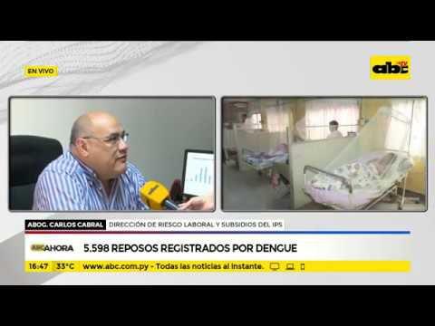 Solo en enero, 5.598 reposos registrados por dengue
