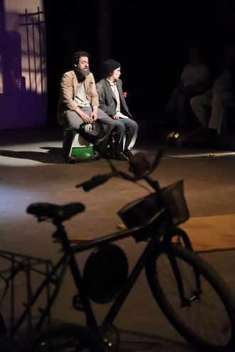 """La obra """"El triciclo""""."""