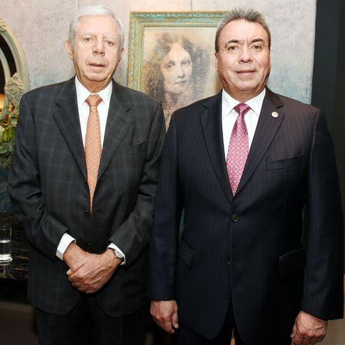 Esteban Morábito y el presidente de la Fedecapy, Agustín Magallanes.