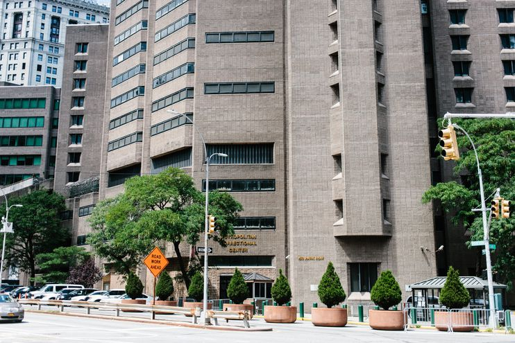 El Centro Correccional de Manhattan, Nueva York, donde falleció Jeffrey Epstein.