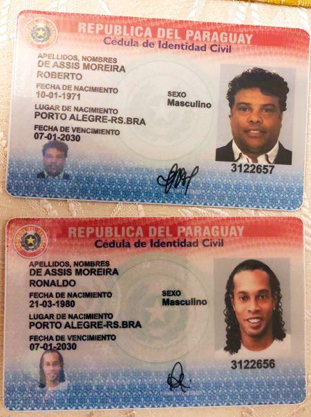 Ronaldinho Gaúcho y su hermano Roberto tenían cédulas de identidad paraguayas auténticas con contenido falso