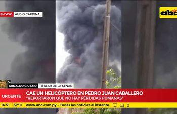 Cae helicóptero en Pedro Juan Caballero