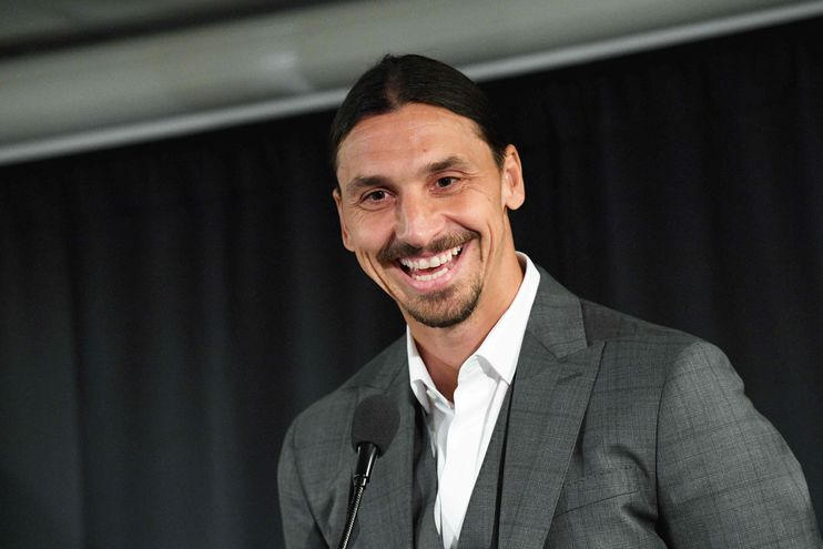 Zlatan Ibrahimovic en una conferencia de prensa.