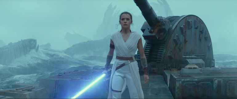 "Daisy Ridley en ""Star Wars: El ascenso de Skywalker""."