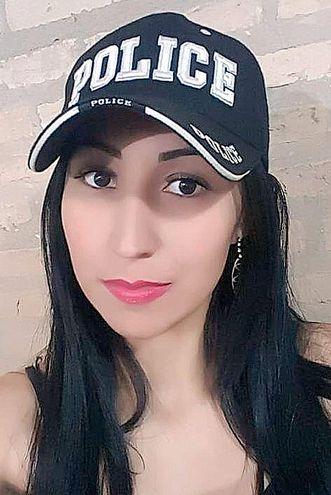Oficial primero Karina Caballero, arrestada.