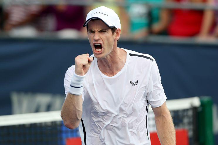 Andy Murray durante un partido de dobles.